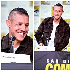 Theo Rossi at the Luke Cage panel. Comic-Con 2016 NETFLIX