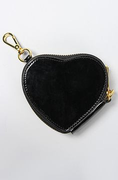 Urban Expressions The Bettina Heart Patent Leather Coin Purse in Black : MissKL.com - Cutting Edge Women's Fashion, Accessories and Shoes.