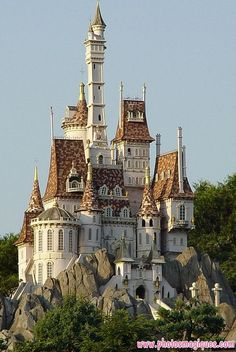 favorite places The Beast's Castle is the primary location of Disney's 1991 film, Beauty and the Beast. Initially, it is the home of the Beast and his several servants, including Lumir Beast's Castle, Castle In The Sky, Castle House, Medieval Castle, Castle Ruins, Beautiful Castles, Beautiful Buildings, Beautiful Places, Beautiful Friend