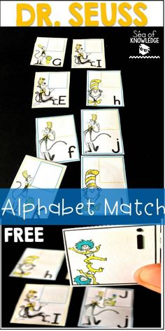 Dr Seuss Alphabet Match Free - Sea of Knowledge