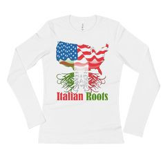 Ladies' American Grown With Italian Roots Long Sleeve T-Shirt NEW for Women To buy NOW visit https://whatdevotion.com/shop/womens-clothing/ladies-american-grown-with-italian-roots-long-sleeve-t-shirt/  ==> Tag friends who would love this one ;) Don't Forget to Like/Share to receive our promotions !!