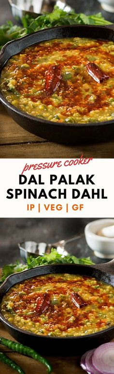 Punjabi DAL PALAK or SPINACH DAHL is smoky spicy and super healthy dal recipe. Also known as spinach dal the dal palak recipe is easy wayto include healthy in everydaymeal plans. Gluten-free, can be made Vegan and Instant Pot recipe