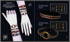 Sweet Lies Original - Andro Bracelets Pack #1 #2 - L$99 - http://maps.secondlife.com/secondlife/Terre%20Des%20Mortes/88/100/1300