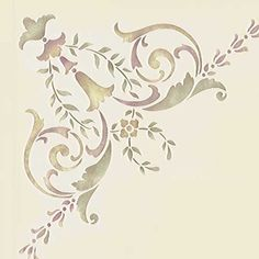 Stencils | Ceiling Stencil 19th Century Corner | Royal Design Studio