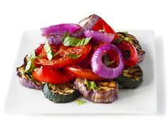Grilled Ratatouille Salad from #FNMag #GrillingCentral