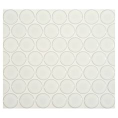 white penny round tile | Complete Tile Collection Penny Round Mosaic - Angelica White - Gloss ...