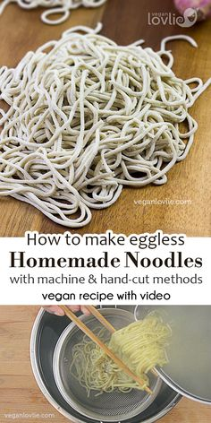 How-to Make Homemade Vegan Noodles [Mauritian Chinese/Ramen Noodles – Eggless . - How-to Make Homemade Vegan Noodles [Mauritian Chinese/Ramen Noodles – Eggless Noodles Recipe] - Homemade Ramen, Homemade Pasta, How To Make Homemade, Vegan Recipes Rice Noodles, Noodle Recipes, Veggie Recipes, Vegan Pasta Noodles, Healthy Recipes, Asian Recipes