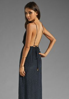 INDAH River Split Front Wrap Side Evening Dress in Padi Black at Revolve Clothing - Free Shipping!
