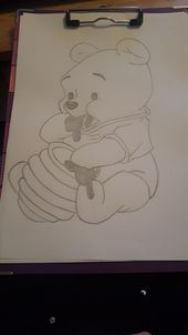 Winnie pooh – Winnie pooh – The post Winnie Pooh – appeared first on Frisuren Tips - People Drawing Cute Disney Drawings, Cool Art Drawings, Disney Sketches, Pencil Art Drawings, Art Drawings Sketches, Easy Drawings, Animal Drawings, Art Sketches, Drawing Disney