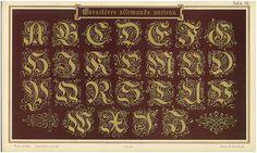"""""""Charactères Allemands Anciens"""" Arrenbrecht, Wilhelm. Der Schriftenmaler. Internationales Schriften-Vorlage-Werk. Cologne, ca. 1895."""