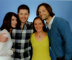 """And here it is! J3E :p No actual ability to think of a """"pose"""" because I could barely breathe, but it couldn't have been better!!!!! #Spn #Supernatural #Jared #Jensen #J2 #PhotoOp #Photo-Op #Torcon #Torcon15 #Torcon2015 #BlameItOnTheMusk"""