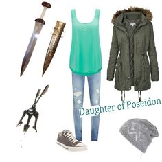 Privious pinner said: Hey! I'm a Demi god, daughter of Poseidon! Granddaughter of Hecate, can work magic to an extent but I'm mainly a chemist. (Ya child of Poseidon aren't all like Percy, we vary a lot. Just ask my siblings on dis board) Percy Jackson Outfits, Percy Jackson Characters, Percy Jackson Fandom, Daughter Of Poseidon, Fandom Fashion, Fandom Outfits, Casual Cosplay, Themed Outfits, Half Blood