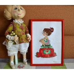Клубничная дамочка ручной работы - купить или сделать на заказ. Магазин рукоделия Крафтбург | арт.:4579
