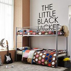 2 Layers White Metal Single Double Triple Kids Children Sleep Bunk Bed Frame for sale online Black Bunk Beds, Metal Bunk Beds, Adult Bunk Beds, Kids Bunk Beds, Triple Sleeper Bunk Bed, Kids Bed Frames, Single Bunk Bed, Girls Bedroom Furniture, Black Bedding