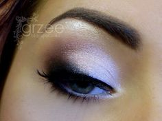 #smokey eye #makeup with a silver lid, mauve in the crease, + black along the lashline blended into a slight cat eye shape on the outer half @grzeee