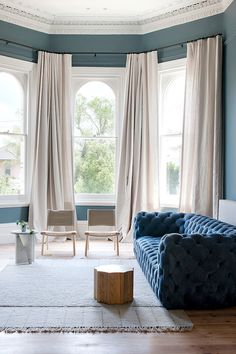 blue velvet sofa | hecker guthrie