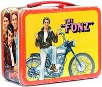 """loved the """"Fonz"""". my husband reminded me of the Fonz. Lunch Box Thermos, Vintage Lunch Boxes, Cool Lunch Boxes, Metal Lunch Box, Lunch Bags, Metal Box, The Fonz, Nostalgia, School Lunch Box"""