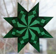 Green Window Star by SarabellaE / Sara / Love in the Suburbs, via Flickr