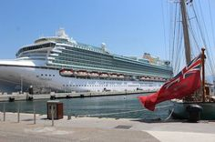 P&O Ventura cruise ship in Corsica, France!