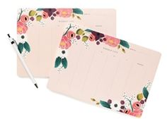 Rifle Paper Co. Pink Floral Desk Pad