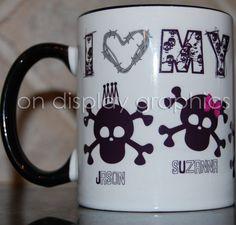 Personalized Skull Family Coffee Mug $12.00