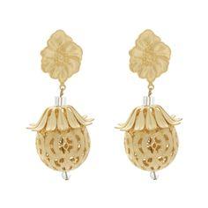 Nexte Jewelry Goldtone Taal Dangle Clip-on Earrings
