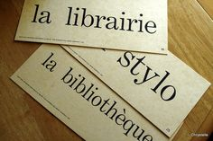 Vintage French Flashcards BOOK  LIBRARY THEME by chrystelle, $10.00