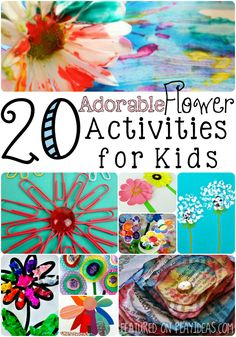Celebrate the beauty of flowers with these 20 flower activities for kids! These bright, colorful flower crafts will brighten your child's day!