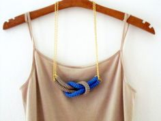 Together crochet knot necklace Nautical knot necklace by sidirom, $16.00