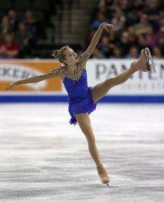 Elena Radionova, Ladies free at Skate America 2014, Blue Figure Skating / Ice Skating dress inspiration for Sk8 Gr8 Designs