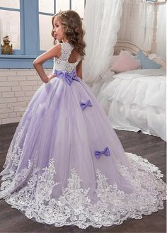 Gorgeous Tulle Satin Jewel Neckline Ball Gown Flower Girl Dresses With Lace Appliques Fabric: Tulle Satin Details: The girl will be shining in this magic dress. The jewel neckline bodice is sleeveless. Exquisite lace appliques and rhinestones. Pagent Dresses For Kids, Girls Pageant Dresses, Gowns For Girls, Prom Dresses, Gold Flower Girl Dresses, Toddler Flower Girl Dresses, Little Girl Dresses, Flower Girls, Outfits Niños