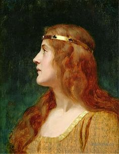 Edmund Blair Leighton, A Medieval Beauty