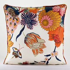 This pillow is perfect for spring! Incorporate wildflowers in bright colors into your home for a fresh update.