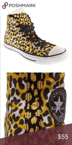 6178decce6e Converse women s size 7 leopard print shoes hi top Converse women s Chuck  Taylor shoes Brand new. Ships out same day or very next.