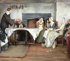 History: 19th century British Quaker family worship meeting.
