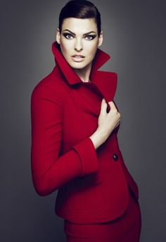 Talbots red suit