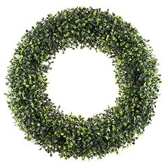 christmas wreaths for front door - Pure Garden Boxwood Wreath, Artificial Wreath for The Front Door, Home Décor, UV Resistant - Inches -- For more information, check out picture link. (This is an affiliate link). Forsythia Wreath, Vine Wreath, Eucalyptus Wreath, Hydrangea Wreath, Artificial Boxwood Wreath, Artificial Plants, Joss And Main, Christmas Wreaths, Christmas Time