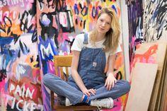 New York City series Powerful Women, Photo Studio, Printmaking, New York City, Overalls, Poses, Mix Media, Female, Daily News