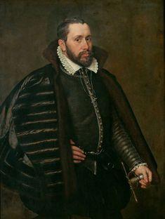 1568 Adriaen Thomasz Key - Portrait of a gentleman in Spanish costume