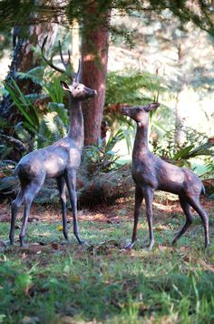 garden sculptures and statues | and Blue Garden Metal Garden Animal Sculptures and Garden Statues ...