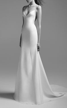 Classic Wedding Dress: Alex Perry Bride Kristen Satin Bikini Gown #weddingdresses #ad #bride
