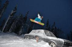 Hallapark for snowboarders. Lumilautailijoille Hallapark.