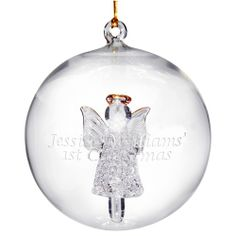 Personalised Glass Angel Christmas Bauble  from Personalised Gifts Shop - ONLY £10.99
