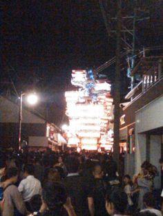 7月29日 曇り時々雨 今日は祇園 夜 家族とお祭りに行きました。