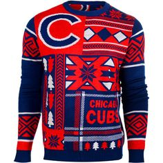 Chicago Cubs Ugly Christmas Sweater perfect gift and can you imagine the reaction you'll get at this year's Ugly Sweater Party?
