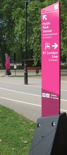 TFL London 2012 | Minale Tattersfield Design Strategy Group Signage Board, Wayfinding Signage, Signage Design, Environmental Graphic Design, Environmental Graphics, Sign Board Design, Outdoor Signage, Exterior Signage, Entrance Sign