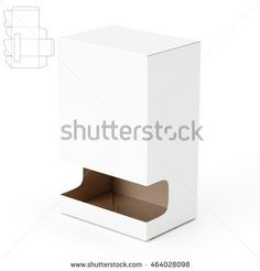 Gravity-Fed Dispenser Box with Die Cut Template 3D Rendering
