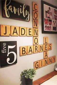 scrabble wall art decorating ideas - diy home decor decorating ideas that are cheap to do.