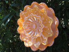 garden plate flower year round garden flowers plate flowers pinterest gardens garden art and glass garden flowers - Orange Garden Decor