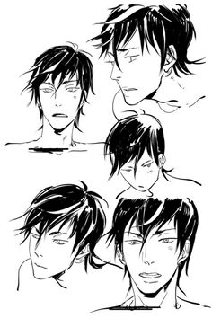 """cassandrajp: """"Speaking of faces. Here are a bunch of Alec faces, practicing for the TMI GN! """" Ooh! Sketches for the TMI graphic novel."""